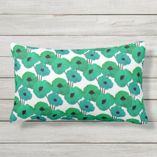 CHIC PILLOW_MOD TROPICAL TEAL FLORAL OUTDOOR PILLOW