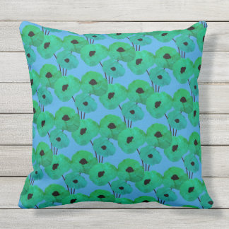CHIC PILLOW_MOD TROPICAL TEAL FLORAL THROW PILLOW
