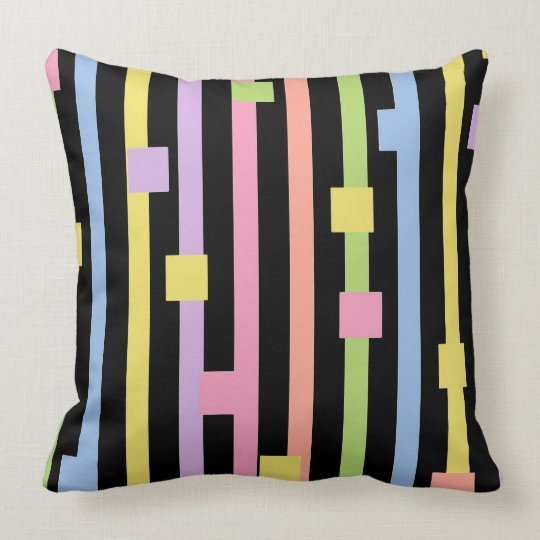 CHIC PILLOW_MODERN LILAC/BLACK TILE THROW PILLOW