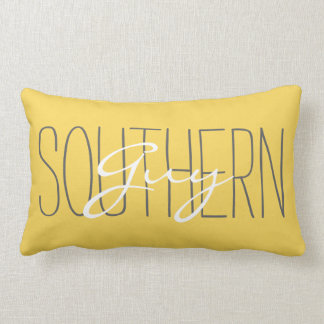 "CHIC PILLOW_""SOUTHERN Guy"" MERIGOLD/GREY/WHITE Lumbar Pillow"