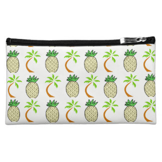 Chic Pineapples And Palm Tree Cosmetic Bag