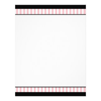 Chic Pink & Black Business Letterhead