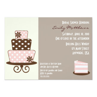 Chic Pink & Brown Invitation