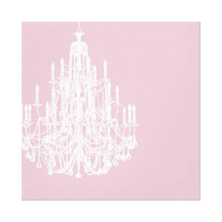 Chic Pink Chandelier Canvas Print