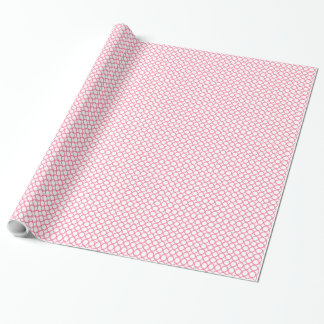 CHIC PINK CIRCLES WRAPPING PAPER