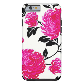 Chic Pink Damask Tough iPhone 6 Case