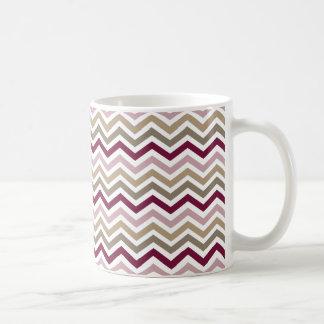 Chic Pink Gold Chevron Coffee Mug