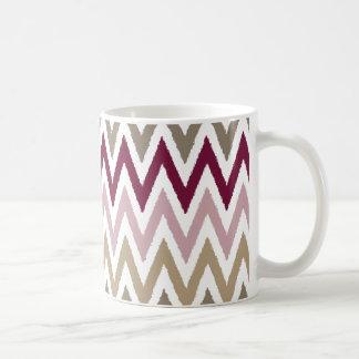 Chic Pink Gold Chevron Coffee Mugs