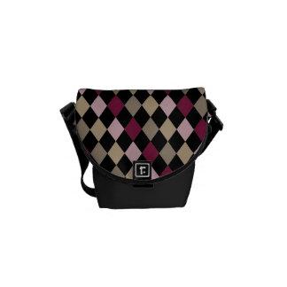 Chic Pink Gold Diamonds Messenger Bag