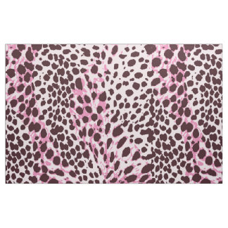 Chic Pink Leopard print pattern customize Fabric