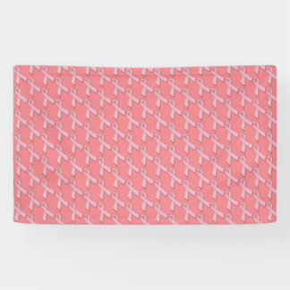 Chic Pink Ribbons Breast Cancer Awareness Banner