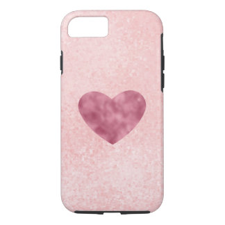 Chic Pink Sparkle Love Heart iPhone 8/7 Case