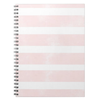 Chic Pink Watercolor Stripe Stylish Notebook