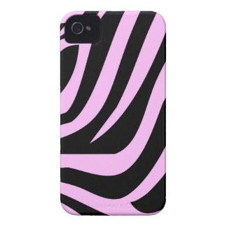 Chic Pink Zebra Print iPhone 4 Case-Mate Cases