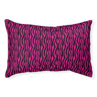 Chic Pink Zebra Print Pattern Pet Bed