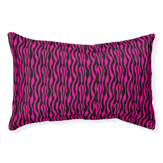 Chic Pink Zebra Print Pattern Small Dog Bed