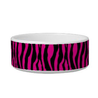 Chic Pink Zebra Print Pearls Monogram Name Dish