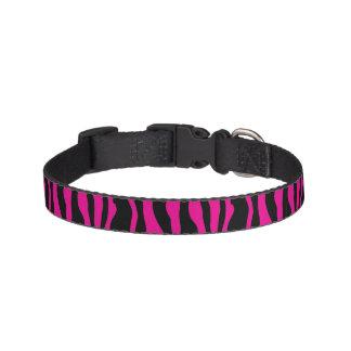Chic Pink Zebra Print Pet Collar