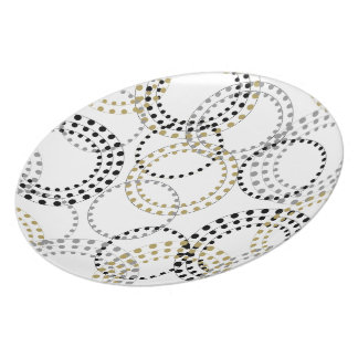 CHIC PLATE_MODERN CIRCLES AND DOTS PATTERN PLATE