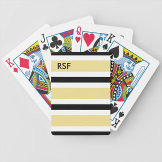 CHIC PLAYING CARDS_09 BUTTER/BLACK/WHITE BICYCLE PLAYING CARDS