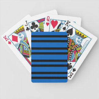 CHIC PLAYING CARDS_154 BLUE STRIPES. DIY BICYCLE PLAYING CARDS
