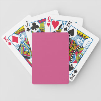 CHIC PLAYING CARDS_  269 PINK SOLID BICYCLE PLAYING CARDS