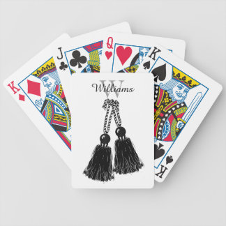 CHIC PLAYING CARDS_BLACK TASSELS. DIY POKER DECK