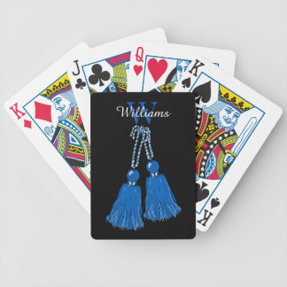 CHIC PLAYING CARDS_BLUE TASSELS. DIY BICYCLE PLAYING CARDS
