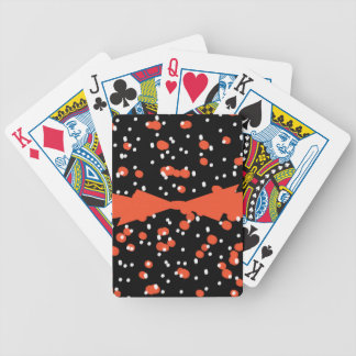 CHIC PLAYING CARDS_FLAME/WHITE DOTS ON BLACK POKER DECK