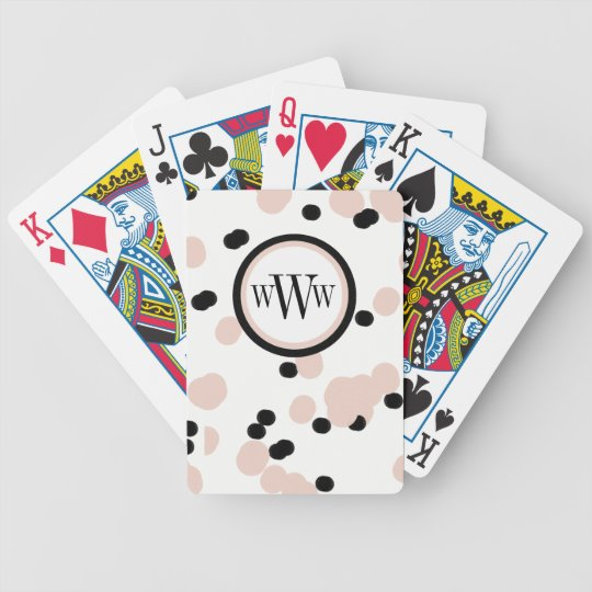 CHIC PLAYING CARDS_GIRLY BLACK/PINK DOTS POKER DECK