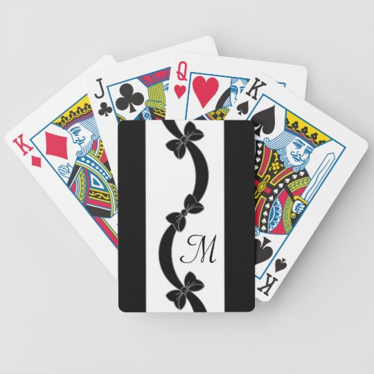 CHIC PLAYING CARDS_RIBBONS/BOWS MONOGRAM 07 POKER DECK