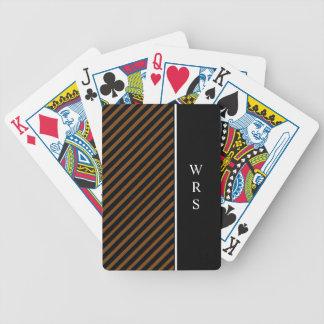CHIC PLAYING CARDS_STRIPES//MONOGRAM  DIY BICYCLE PLAYING CARDS