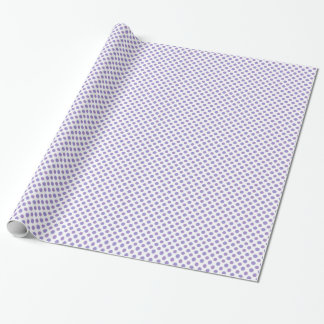 Chic Polka Dot Wrapping Paper: Lavender on White Wrapping Paper