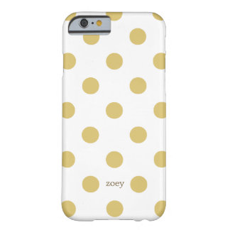 Chic Polka Dots iPhone 6 case (Golden/White)