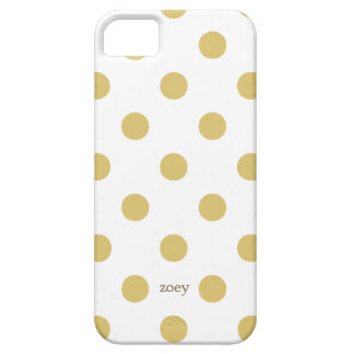 Chic Polka Dots iPhone Cases (Golden/White)