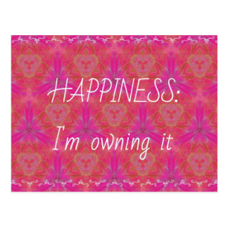 "Chic Pop Culture  Colors ""Happiness: Owning it"" Postcard"