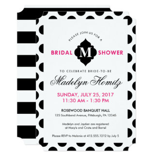 Chic Pop of Color Bridal Shower Invitations