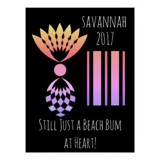 CHIC POSTER_TROPICAL BEACH BUM AT HEART_PINEAPPLE POSTER