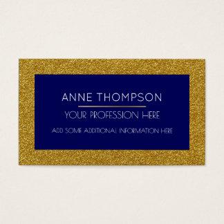 chic profond et moderne bleus et d'or cartes de visite