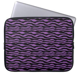 Chic Pruple Zebra Animal Print Laptop Sleeve