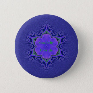 Chic Purple Lavender 'Simplicity Lifestyle' 2 Inch Round Button