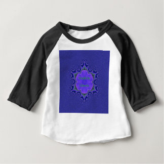 Chic Purple Lavender 'Simplicity Lifestyle' Baby T-Shirt