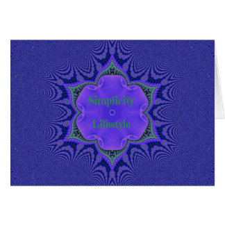Chic Purple Lavender 'Simplicity Lifestyle' Card