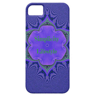 Chic Purple Lavender 'Simplicity Lifestyle' Case For The iPhone 5