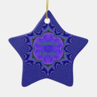 Chic Purple Lavender 'Simplicity Lifestyle' Ceramic Ornament