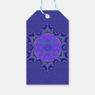 Chic Purple Lavender 'Simplicity Lifestyle' Gift Tags