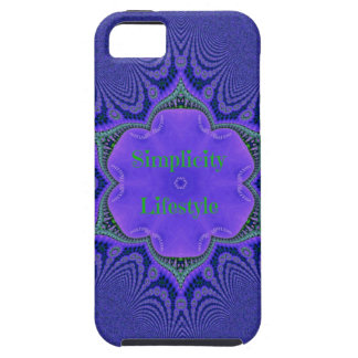 Chic Purple Lavender 'Simplicity Lifestyle' iPhone 5 Cover