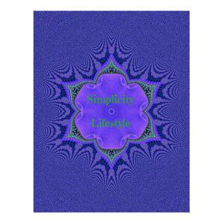 Chic Purple Lavender 'Simplicity Lifestyle' Letterhead