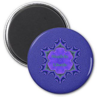 Chic Purple Lavender 'Simplicity Lifestyle' Magnet