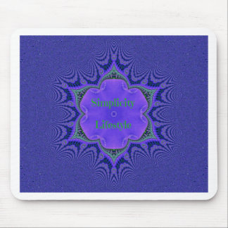 Chic Purple Lavender 'Simplicity Lifestyle' Mouse Pad